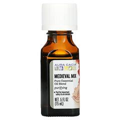 Aura Cacia, 純精油混合,Medieval Mix,0.5 液量盎司(15 毫升)