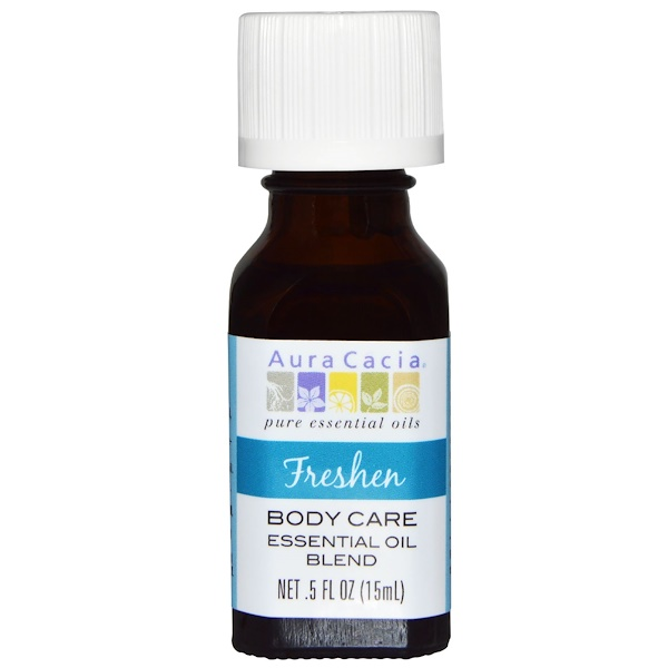 Aura Cacia, Body Care Essential Oil Blend, Freshen, 5 fl oz (15 ml) (Discontinued Item)