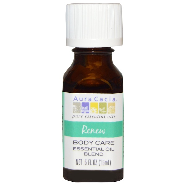 Aura Cacia, Body Care, Essential Oil Blend, Renew, .5 fl oz (15 ml) (Discontinued Item)