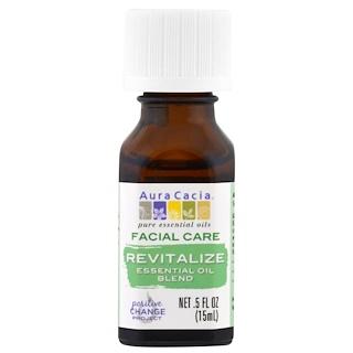 Aura Cacia, Facial Care, Essential Oil Blend, Revitalize, .5 fl oz (15 ml)