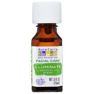 Aura Cacia, Facial Care, Essential Oil Blend, Illuminate, .5 fl oz (15 ml)