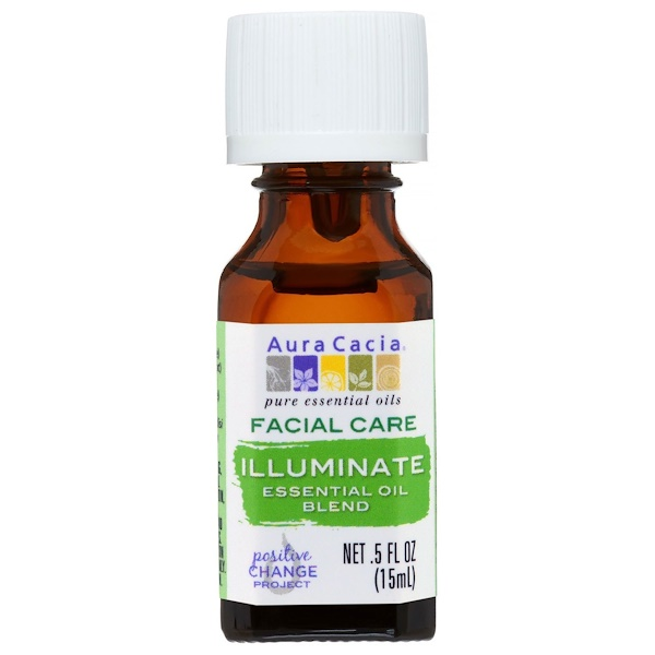 Aura Cacia, Facial Care, Essential Oil Blend, Illuminate, .5 fl oz (15 ml) (Discontinued Item)