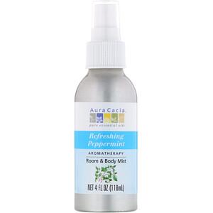 Аура Кация, Room & Body Mist, Refreshing Peppermint, 4 fl oz (118 ml) отзывы