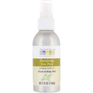 Aura Cacia, Aromatherapy Room & Body Mist, Purifying Tea Tree, 4 fl oz (118 ml)