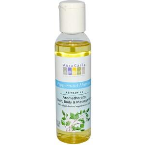 Аура Кация, Aromatherapy Body Oil, Refreshing Peppermint, 4 fl oz (118 ml) отзывы