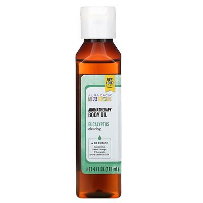 Aura Cacia Ароматерапевтическое масло для тела, легкое дыхание эвкалипта, 4 жидких унции (118 мл)