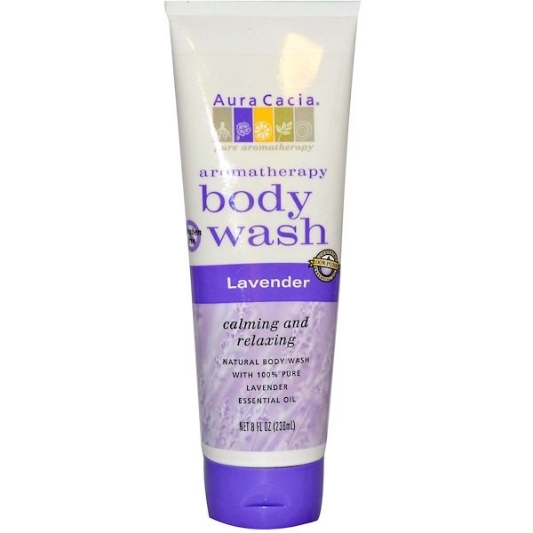 Aura Cacia, Aromatherapy Body Wash, Lavender, 8 fl oz (236 ml) (Discontinued Item)