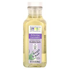 Aura Cacia, 香薰泡泡浴,放鬆薰衣花草,13 液量盎司(384 毫升)