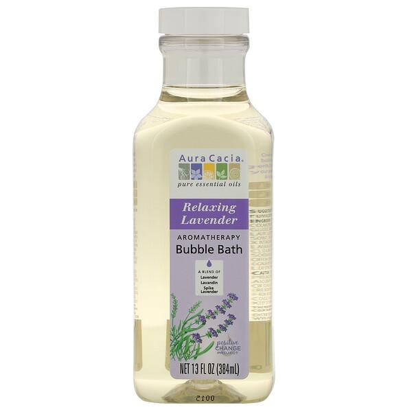 Baño de Burbujas de Aromaterapia, Lavanda Relajante, 13 fl oz (384 ml)