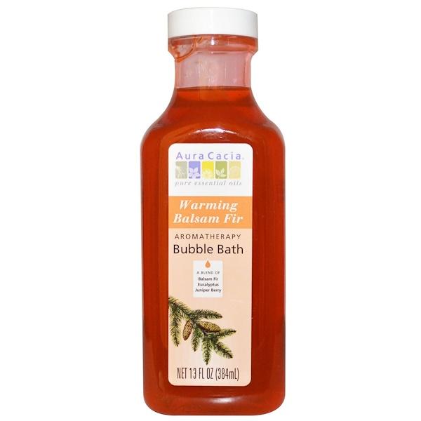 Aura Cacia, Natural Aromatherapy Bubble Bath, Warming Balsam Fir, 13 fl oz (384 ml) (Discontinued Item)