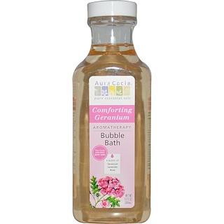 Aura Cacia, アロマセラピー バブルバス、 コンフォーティングゼラニウム、 13 fl oz (384 ml)