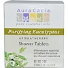Aura Cacia, Aromatherapy Shower Tablets, Purifying Eucalyptus, 3 Tablets, 1 oz Each (Discontinued Item)
