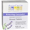 Aura Cacia, Aromatherapy Shower Tablets, Relaxing Lavender, 3 Tablets, 1 oz Each