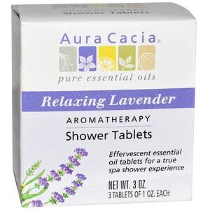 Аура Кация, Aromatherapy Shower Tablets, Relaxing Lavender, 3 Tablets, 1 oz Each отзывы