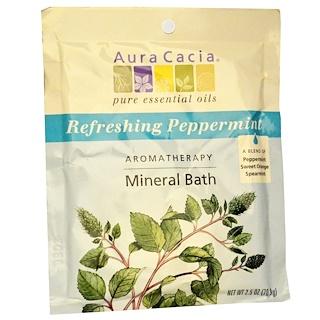 Aura Cacia, Baño mineral de aromaterapia, menta refrescante, 2,5 onzas (70,9)