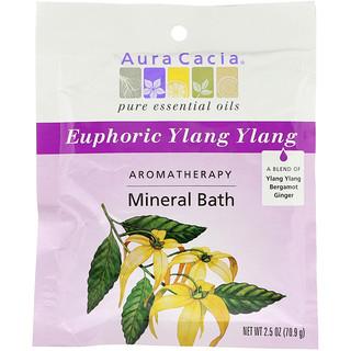 Aura Cacia, Aromatherapy Mineral Bath, Euphoric Ylang Ylang, 2.5 oz (70.9 g)