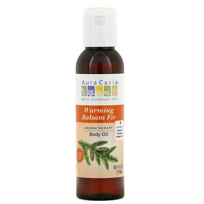 Купить Aura Cacia Ароматерапевтическое масло для тела, согревающая пихта бальзамическая, 4 жидких унции (118 мл)
