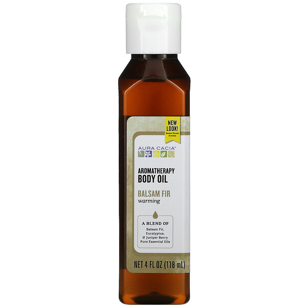 Aromatherapy Body Oil, Warming Balsam Fir, 4 fl oz (118 ml)