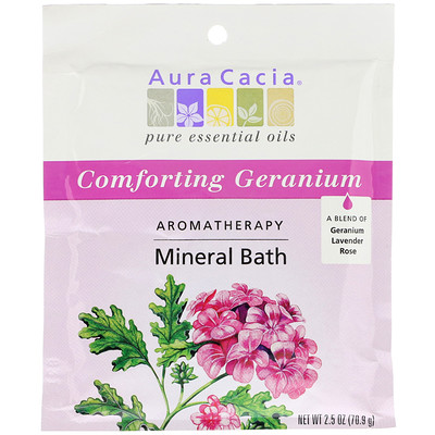 Минеральная ароматерапевтическая ванна, Comforting Geranium, 70.9 г