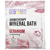 Aura Cacia, Минеральная ароматерапевтическая ванна, Comforting Geranium, 70.9 г