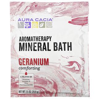 Aura Cacia, アロマセラピーミネラルバス、コンフォーティングゼラニウム、70.9g(2.5オンス)