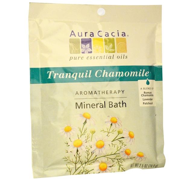 Aura Cacia, Baño mineral de aromaterapia, tranquilizante de manzanilla, 2,5 onzas (70,9)