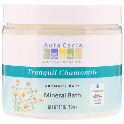 Купить Ароматерапевтическое средство для ванны с минералами, успокаивающая ромашка, 16 унций (454 г)