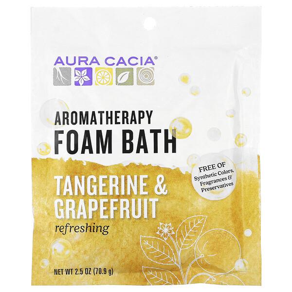 Aura Cacia, Banho de Espuma de Aromaterapia, Tangerina Refrescante & Toranja, 2.5 oz (70,9 g) (Discontinued Item)