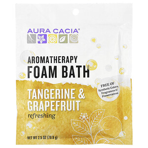Аура Кация, Aromatherapy Foam Bath, Refreshing Tangerine & Grapefruit, 2.5 oz (70.9 g) отзывы
