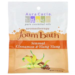 Аура Кация, Aromatherapy Foam Bath, Sensual Cinnamon & Ylang Ylang, 2.5 oz (70.9 g) отзывы
