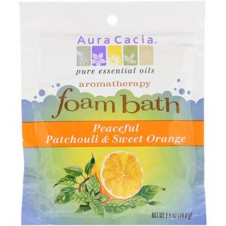 Aura Cacia, Aromatherapy Foam Bath, Peaceful Patchouli & Sweet Orange, 2.5 oz (70.9 g)