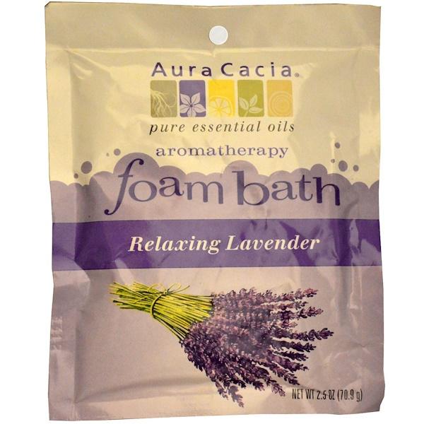 Aura Cacia, 香薰泡沫浴,放鬆薰衣草,2、5盎司(70、9克)