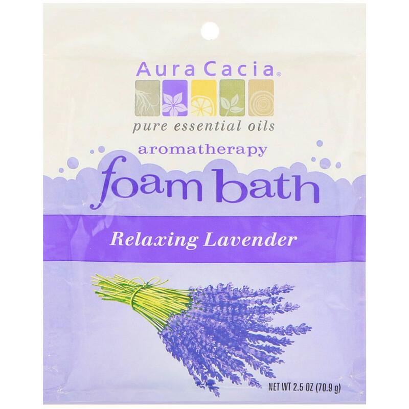 Aromatherapy Foam Bath, Relaxing Lavender, 2.5 oz (70.9 g)