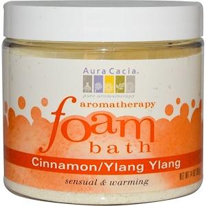 Аура Кация, Aromatherapy Foam Bath, Cinnamon/Ylang Ylang, 14 oz (397 g) отзывы