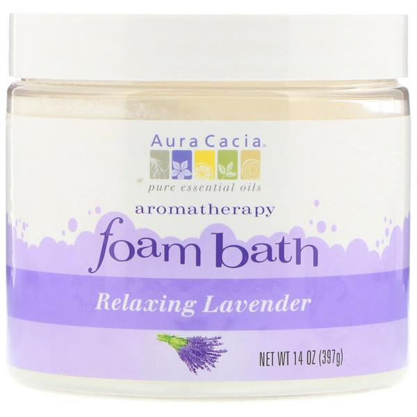 Aromatherapy Foam Bath, Relaxing Lavender, 14 oz (397 g)