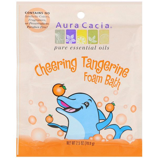 Cheering Foam Bath, Tangerine, 2.5 oz (70.9 g)