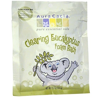 Aura Cacia, Bain Moussant Nettoyant, Eucalyptus, 2,5 oz (70,9 g)