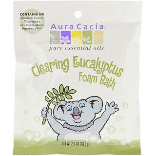 Aura Cacia, Clearing Foam Bath, Eucalyptus, 2.5 oz (70.9 g)