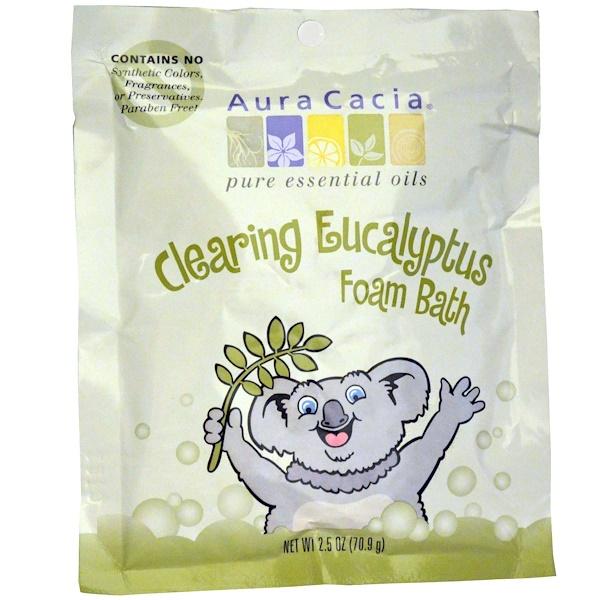 Aura Cacia, 清潔泡沫浴,桉樹,2、5盎司(70、9克)