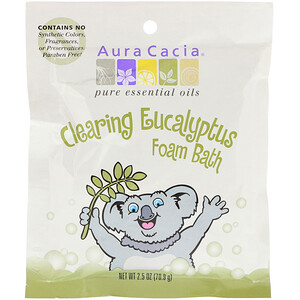 Аура Кация, Clearing Foam Bath, Eucalyptus, 2.5 oz (70.9 g) отзывы