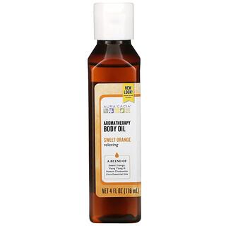 Aura Cacia, Aromatherapy Body Oil, Relaxing, Sweet Orange, 4 fl oz (118 ml)