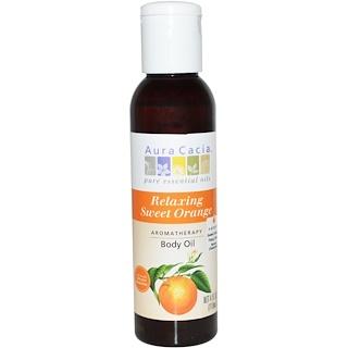 Aura Cacia, Aromatherapy Body Oil, Relaxing Sweet Orange, 4 fl oz (118 ml)