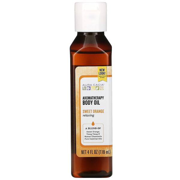 Aromatherapy Body Oil, Relaxing, Sweet Orange, 4 fl oz (118 ml)