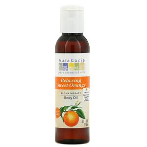 Аура Кация, Aromatherapy Body Oil, Relaxing Sweet Orange, 4 fl oz (118 ml) отзывы покупателей