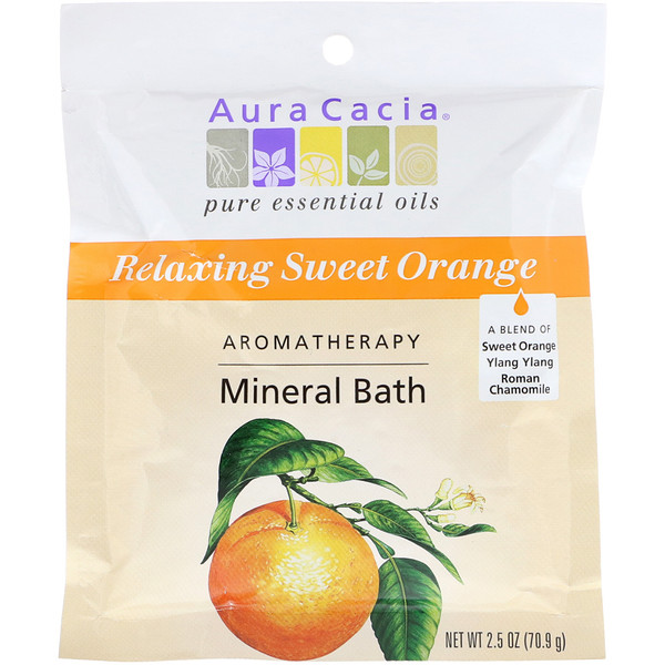 Aromatherapy Mineral Bath, Relaxing Sweet Orange, 2.5 oz (70.9 g)