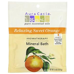 Аура Кация, Aromatherapy Mineral Bath, Relaxing Sweet Orange, 2.5 oz (70.9 g) отзывы