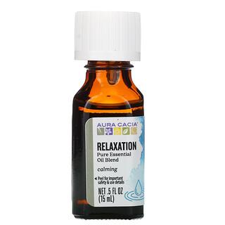 Aura Cacia, Pure Essential Oil Blend, Relaxation, 0.5 fl oz (15 ml)