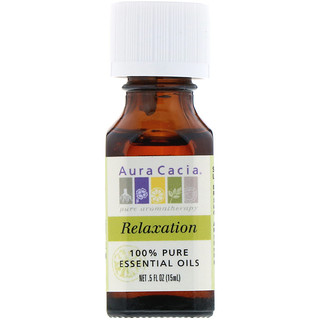Aura Cacia, 100% Pure Essential Oils, Relaxation, .5 fl oz (15 ml)