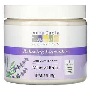 Аура Кация, Aromatherapy Mineral Bath, Relaxing Lavender, 16 oz (454 g) отзывы покупателей