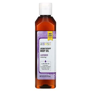 Aura Cacia, Aromatherapy Body Oil, Lavender, 8 fl oz (237 ml)